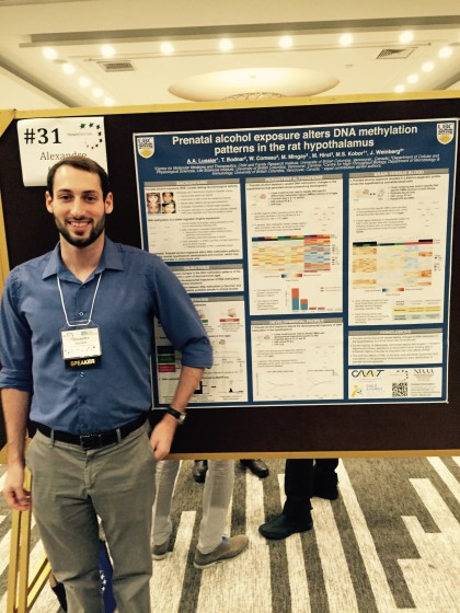 Alex Lussier presents talk, wins poster award at Brain Development Conference in Ottawa