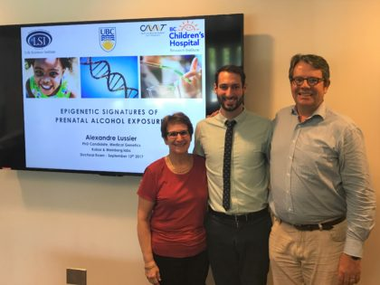 Congratulations to our newest PhD in the lab – Dr. Alexandre Lussier